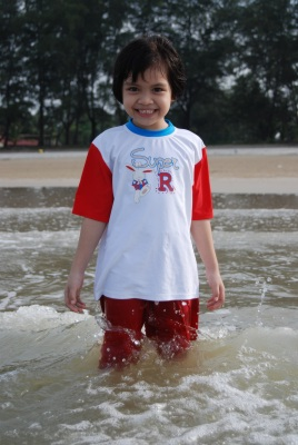 Maryam in the water