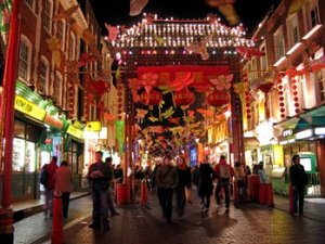 Chinese New Year celebration in Chinatown, London