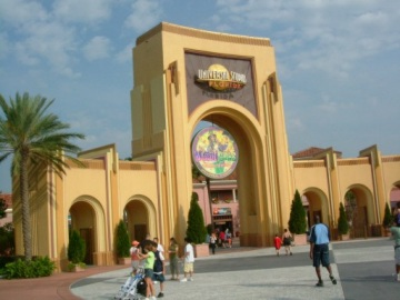 The entrance to the Universal Studio, Orlando