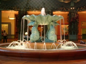 A nice indoor fountain. And you guessed it, dolphins!